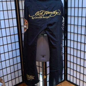 NWOT Ed Hardy French Terry Sweats
